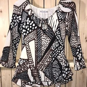 Signature by Larry Levine blouse small